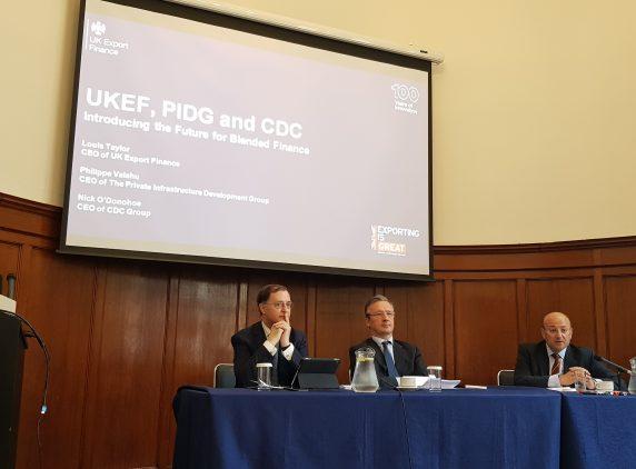 Blended Finance Collaboration workshop, UKEF, PIDG and CDC